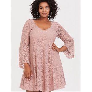 Pink lace torrid dress